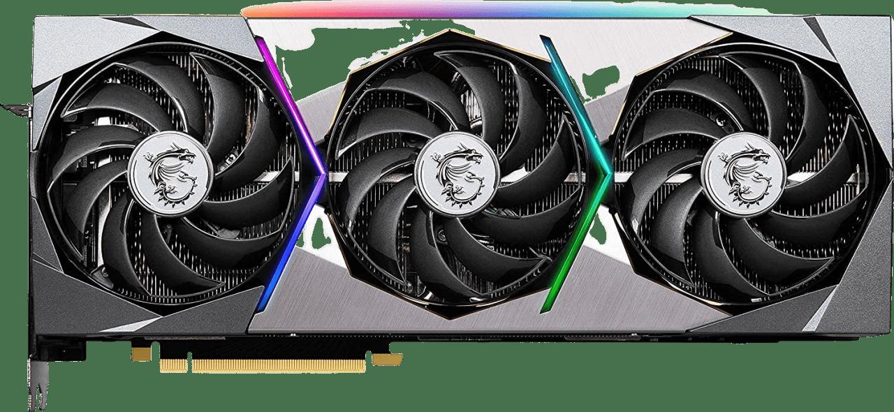 Schwarz MSI GeForce RTX™ 3080 Suprim X 10G Grafikkarte.1