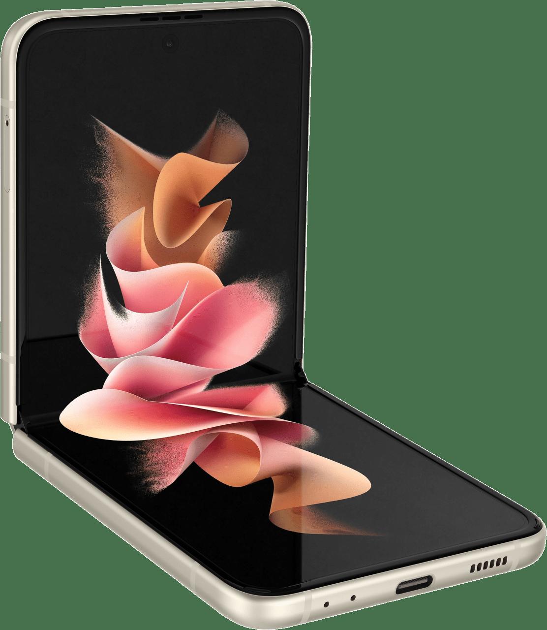 Cream Samsung Smartphone Galaxy Flip 3 - 128GB - Dual Sim.3