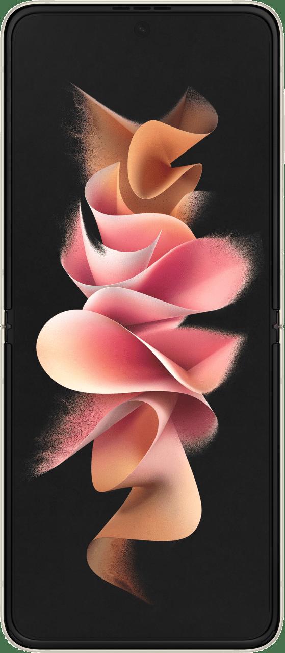Cream Samsung Smartphone Galaxy Flip 3 - 128GB - Dual Sim.4