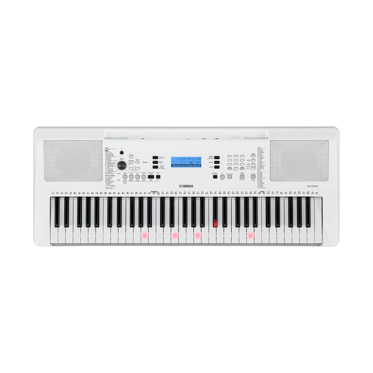 Zilver Wit Yamaha EZ-300 61-sleutels draagbare digitale piano.1