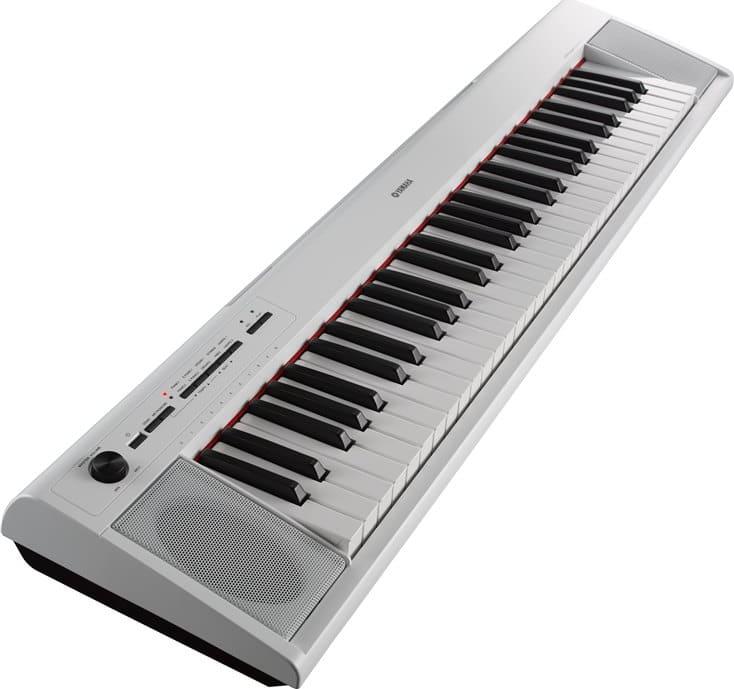 White Yamaha NP-12 61-Key Portable Piaggero.1