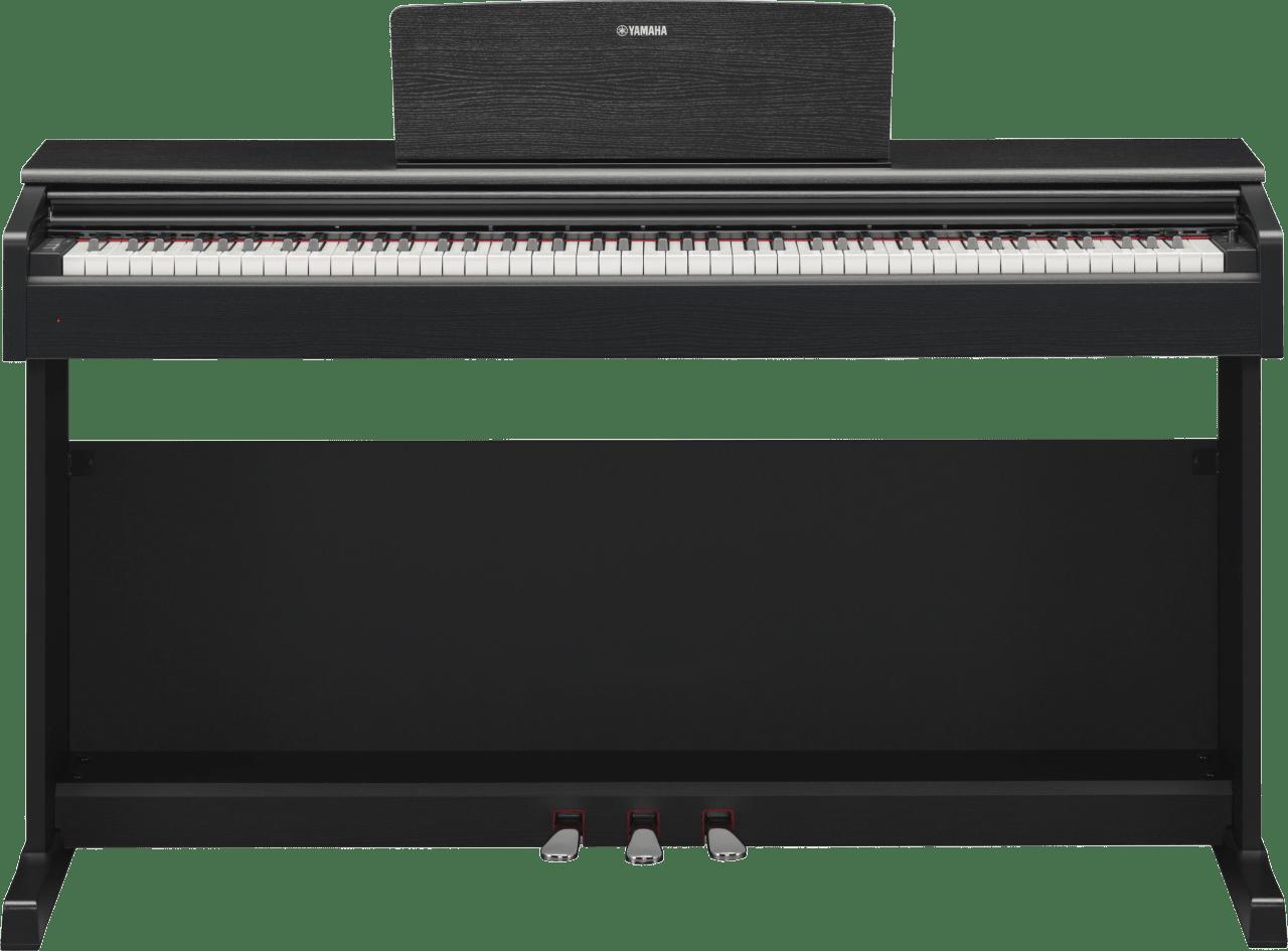 Zwart Yamaha YDP-144 digitale piano met 88 toetsen.2