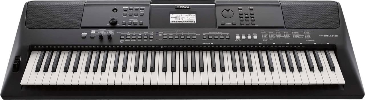 Black Yamaha PSR-EW410 76-Key Portable Keyboard.1