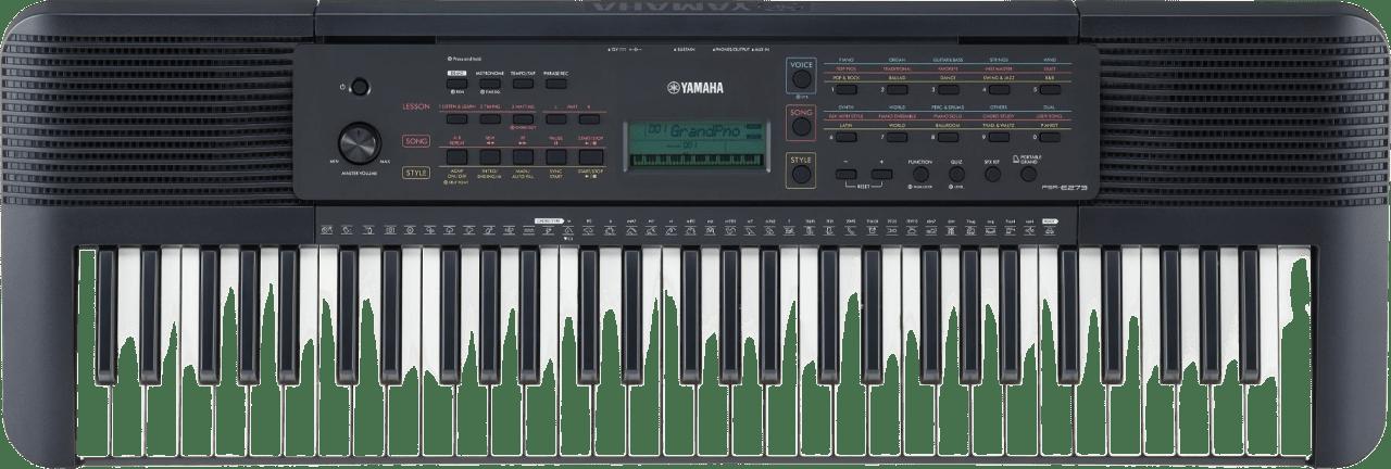 Negro Piano digital portátil Yamaha PSR-E273 de 61 teclas.1