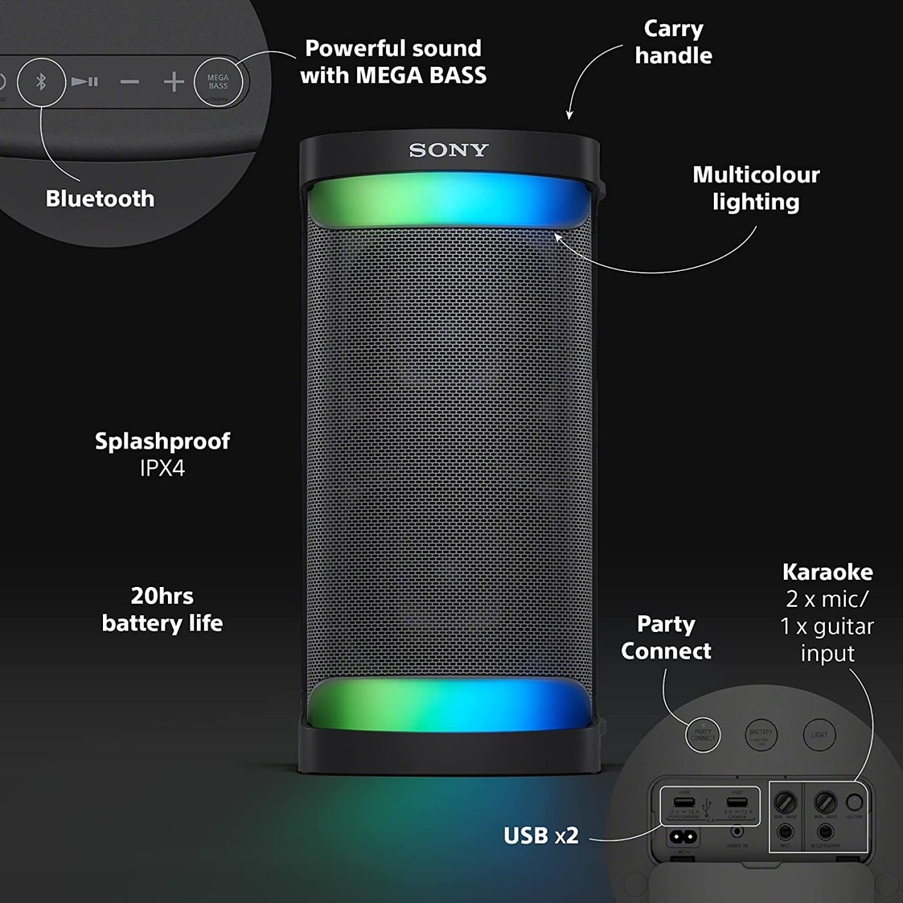Sony SRS-XP500 Portable Wireless Speaker.5
