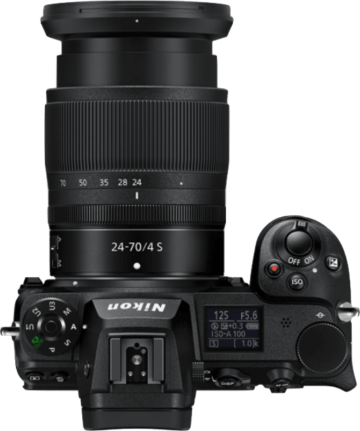 Black Nikon Z7 Camera Kit with 24-70 mm 1:4 Lens and FTZ Adapter.4