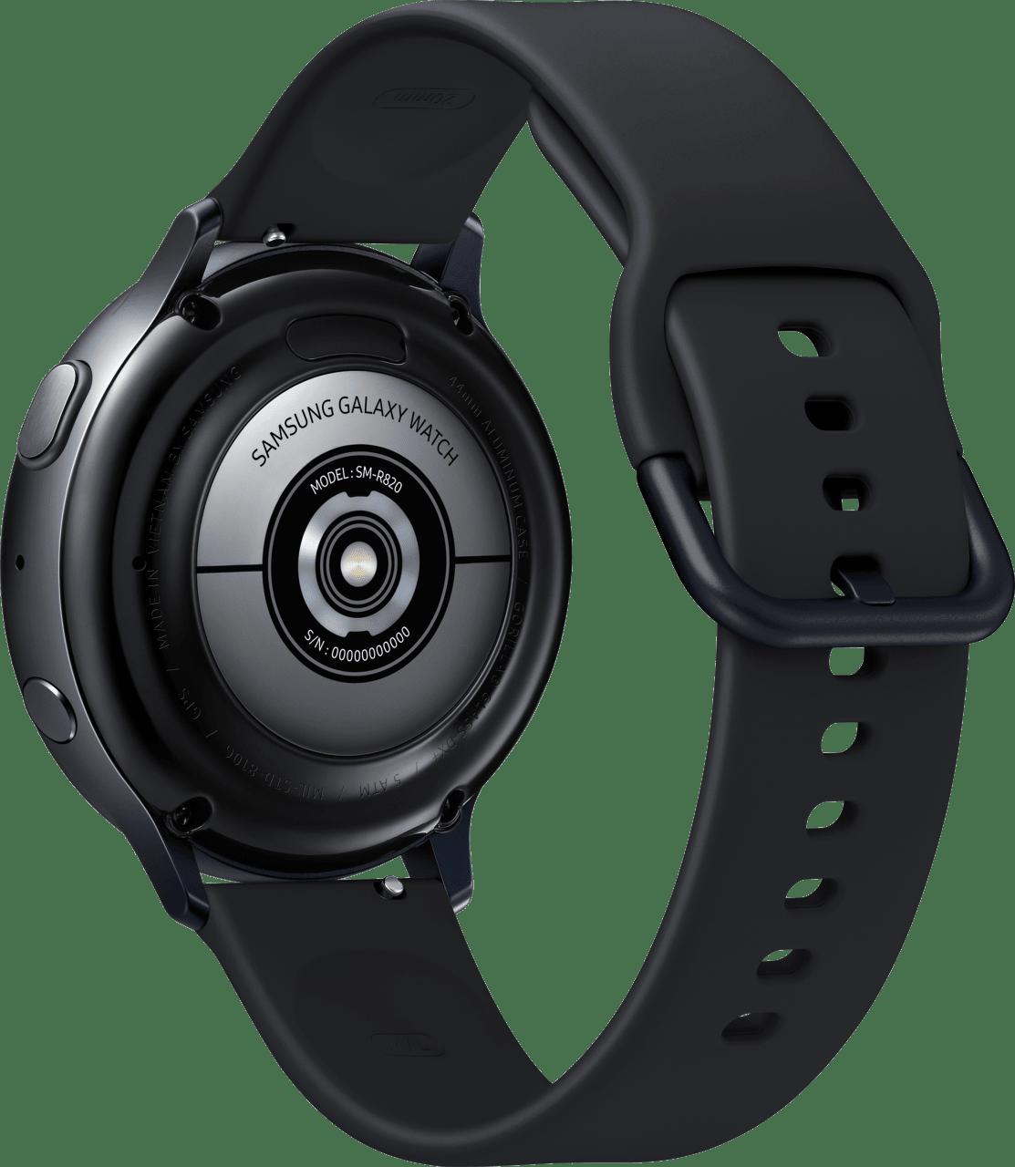 Aqua Black Samsung Galaxy Watch Active2, 44mm Aluminium case, Sport band.3