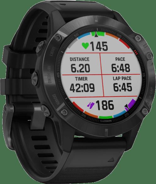 Black Garmin Fenix 6 Pro GPS Sports watch, 47mm.2