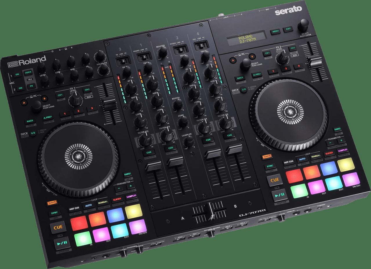 Black Roland DJ-707M DJ-controller.2