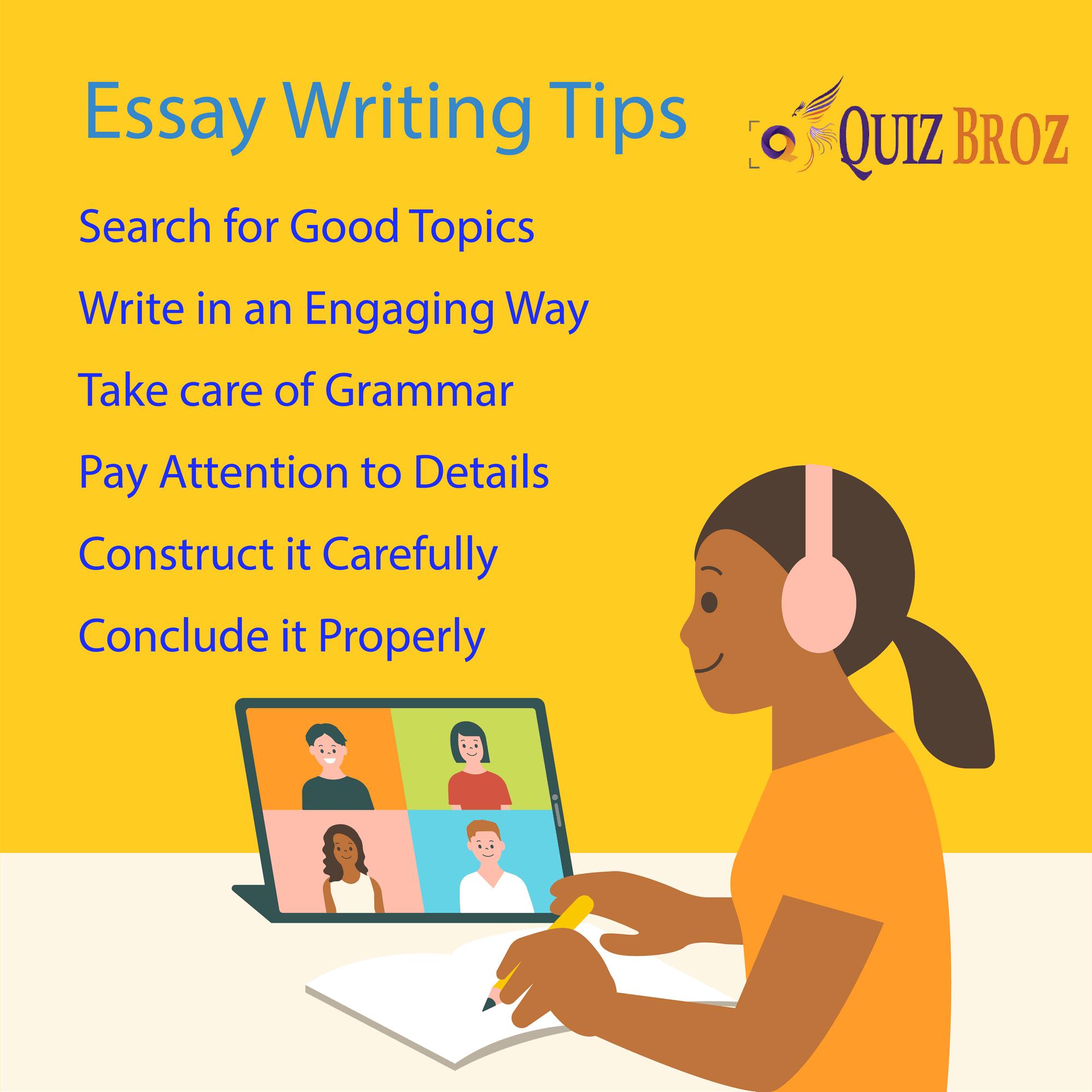 Essay writing help - tips