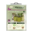 20 litre Vigoroot pots (3 pack)