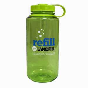 Nalgene Tritan 1 Litre (32 oz) Wide Mouth Drinking Bottle - Refill not Landfill