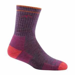 Darn Tough 1903 Womens Merino Wool Micro Crew Cushion Socks - Plum Heather