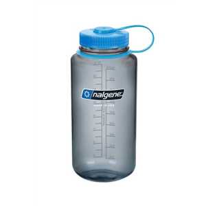 Nalgene Tritan 1 Litre (32 oz) Wide Mouth Drinking Bottle -Grey
