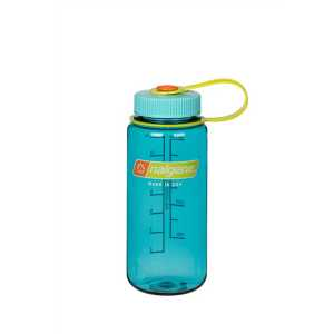 Nalgene Tritan 500ml (16 oz) Wide Mouth Drinking Bottle - Grey -Cerulean