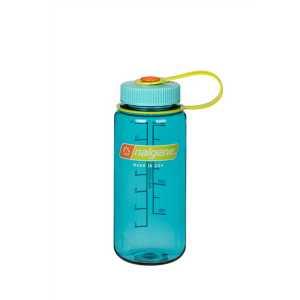 Nalgene Tritan 500ml (16 oz) Wide Mouth Drinking Bottle - Grey -Cerulean