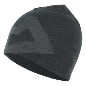 Mountain Equipment Branded Knitted Beanie Hat- Raven/Shadow Grey