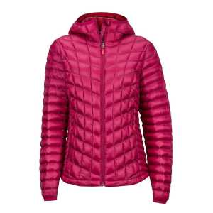 Marmot Womens Featherless Hooded Insulated Jacket - Red Dahlia - Large