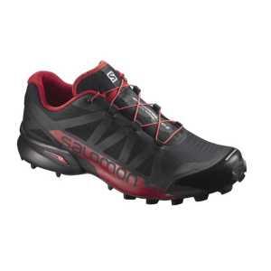 Salomon Speedcross Pro 2 Trail Running Shoes - Black/Barbados Cherry/Black