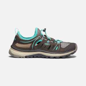 Keen Womens Terradora Ethos Walking Trainers - Mulch/Blue Turquoise