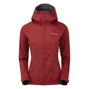 Montane Womens Atomic Lightweight Waterproof Jacket - Tibetan Red