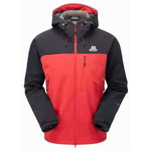 Mountain Equipment Vulcan Softshell Jacket - Imperial Red/Black