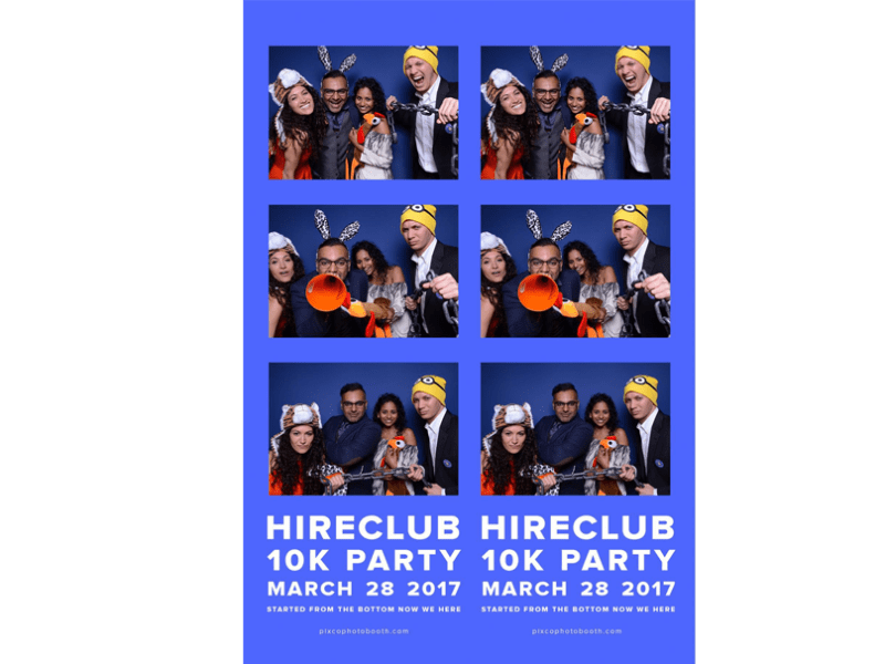 HireClub 10k Party photobooth template