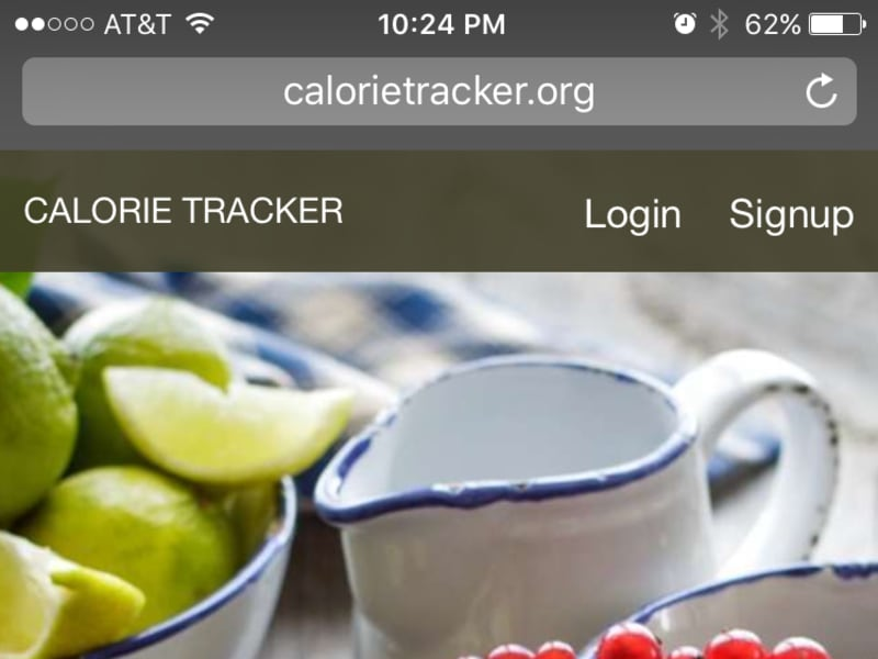 Calorie tracker