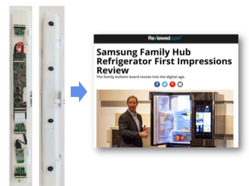 "Samsung ""Glaze"" Embedded Cameras for French Door Refrigerator"