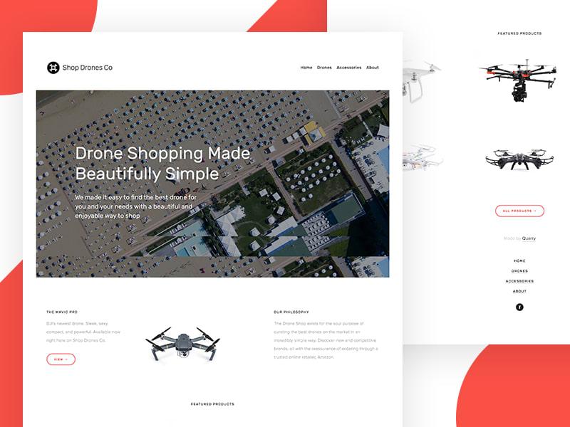 Shop Drones Co. Website