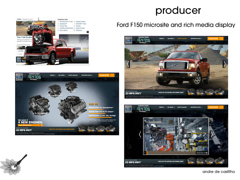 Ford F150 Microsite and Display Banners