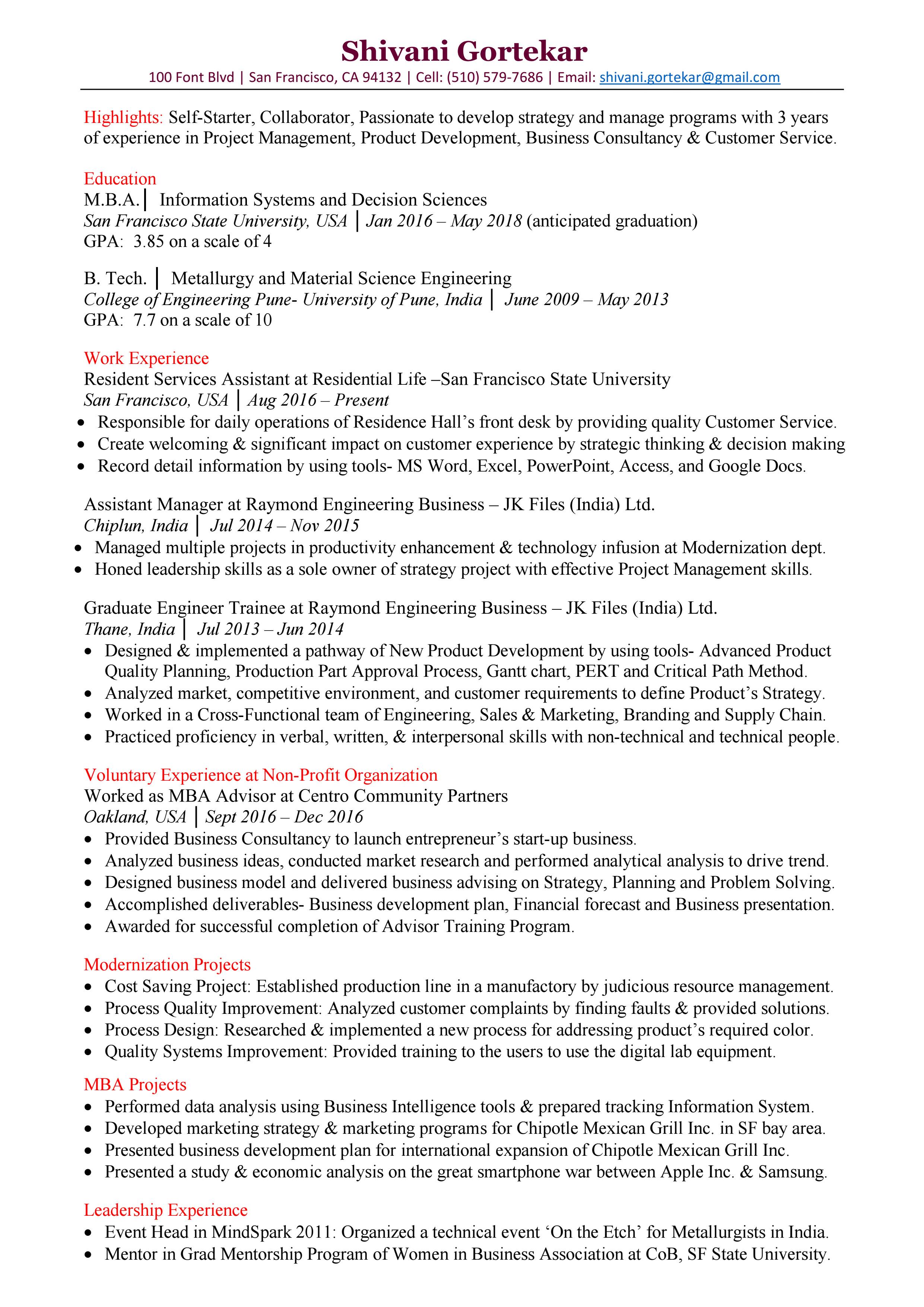 Resume - Shivani Gortekar.pdf | HireClub