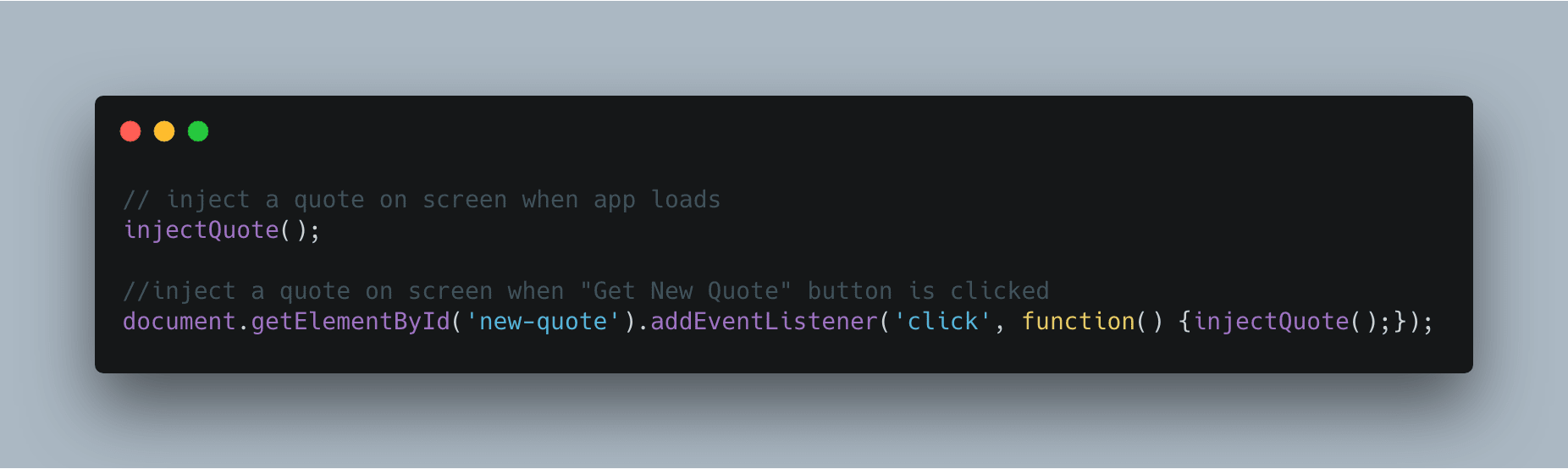 Random Quote – Vanilla JavaScript: Using various front end stacks