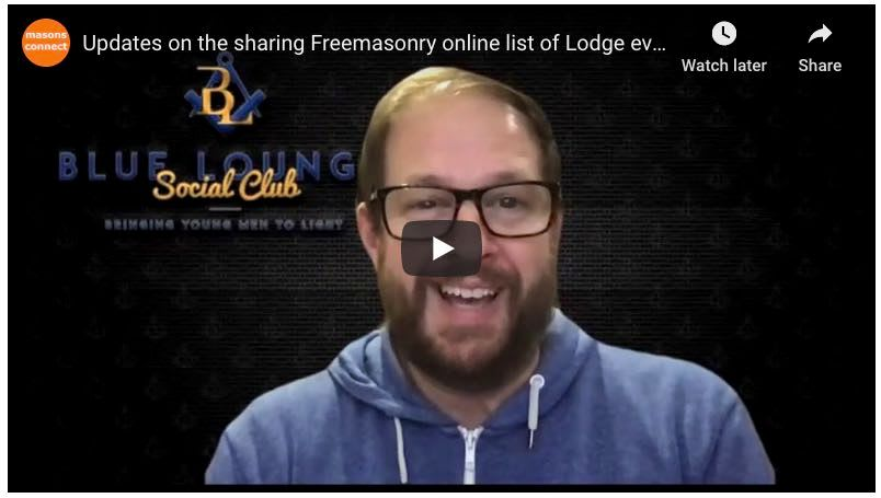 Updates on the sharing Freemasonry online list of Lodge events, where we have come and where to next