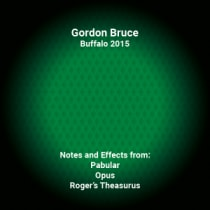 Gordon Bruce Lecture Notes