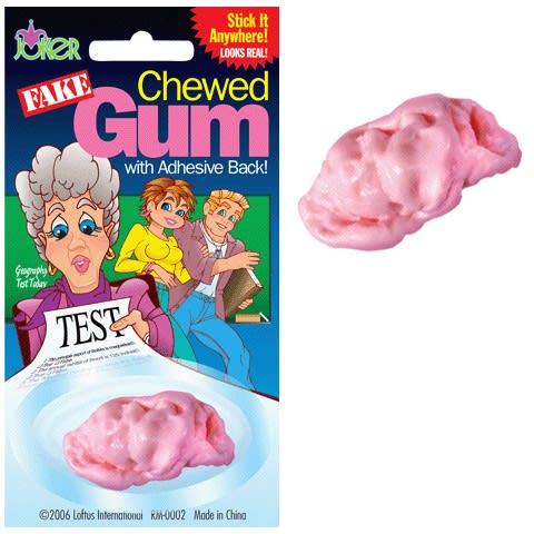 Fake chewed gum