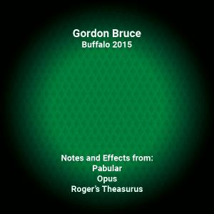 Gordon Bruce Lecture Notes