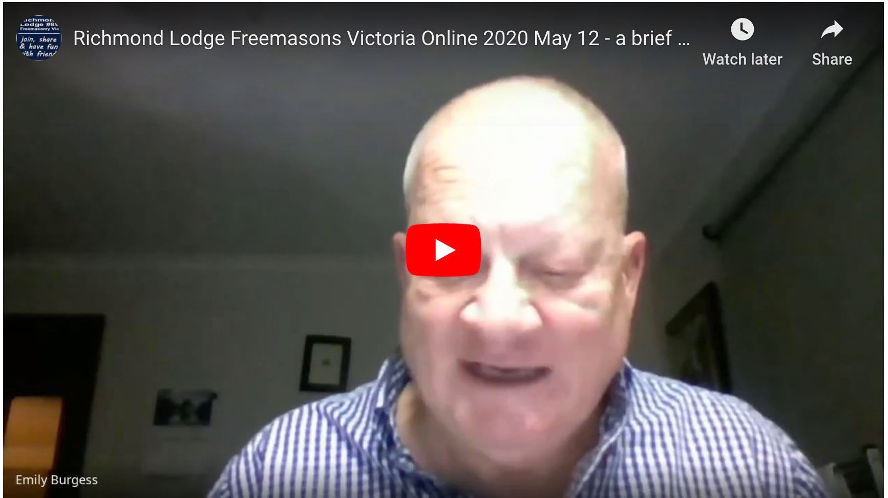 Richmond Lodge Freemasons Victoria Online 2020 May 12 - a brief history