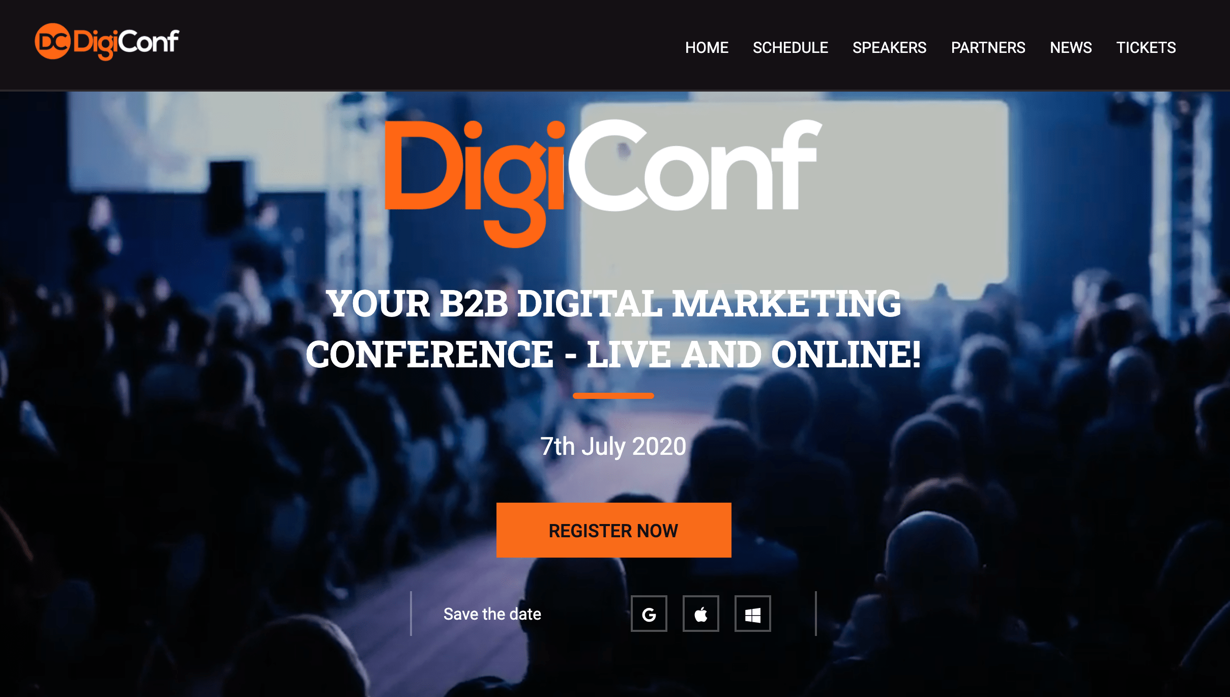 Digiconf is a virtual summit and conference where attendees can network with speakers and each other before and after the event