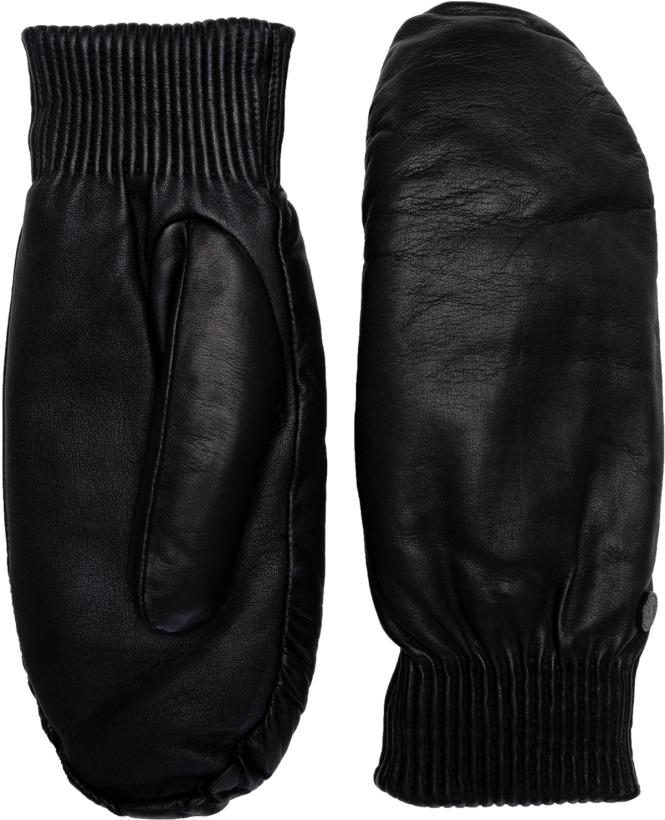 bce49d24ce65 Canada Goose  Black Label Leather Rib Mitts - Black