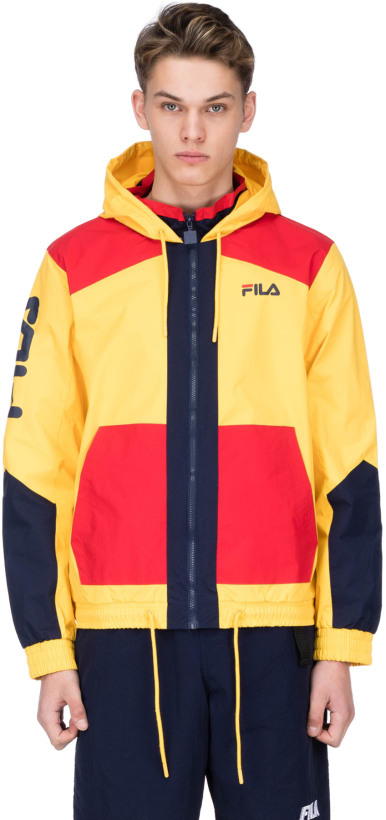 Fila Earl Full Zip Hooded Jacket Lemon Chromechinese Redpeacoat