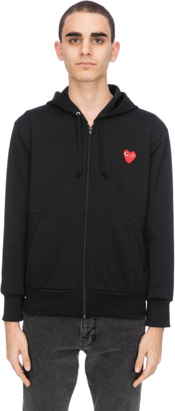 8e3a263c4742 Comme des Garçons Play  Red Heart Zip Hoodie - Black