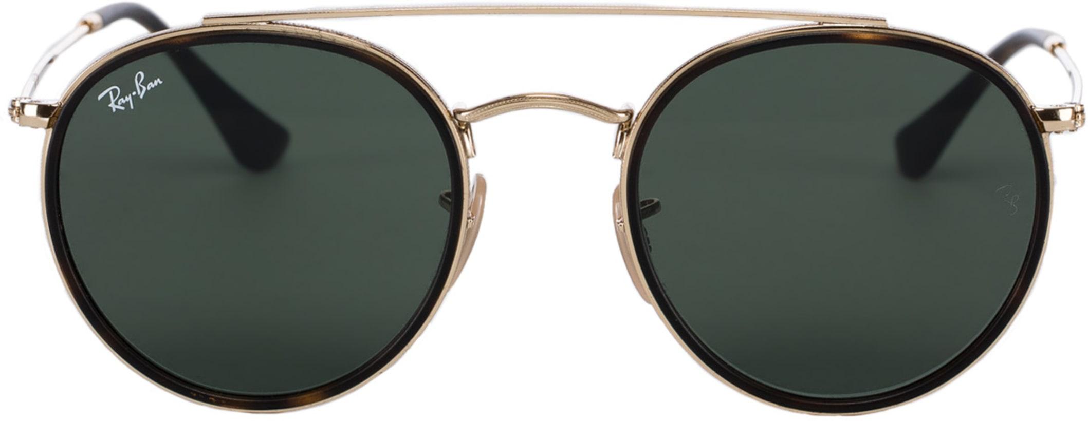 7261ddeae71 Ray-Ban  Round Double Bridge Sunglasses - Gold Green Classic G-15 ...