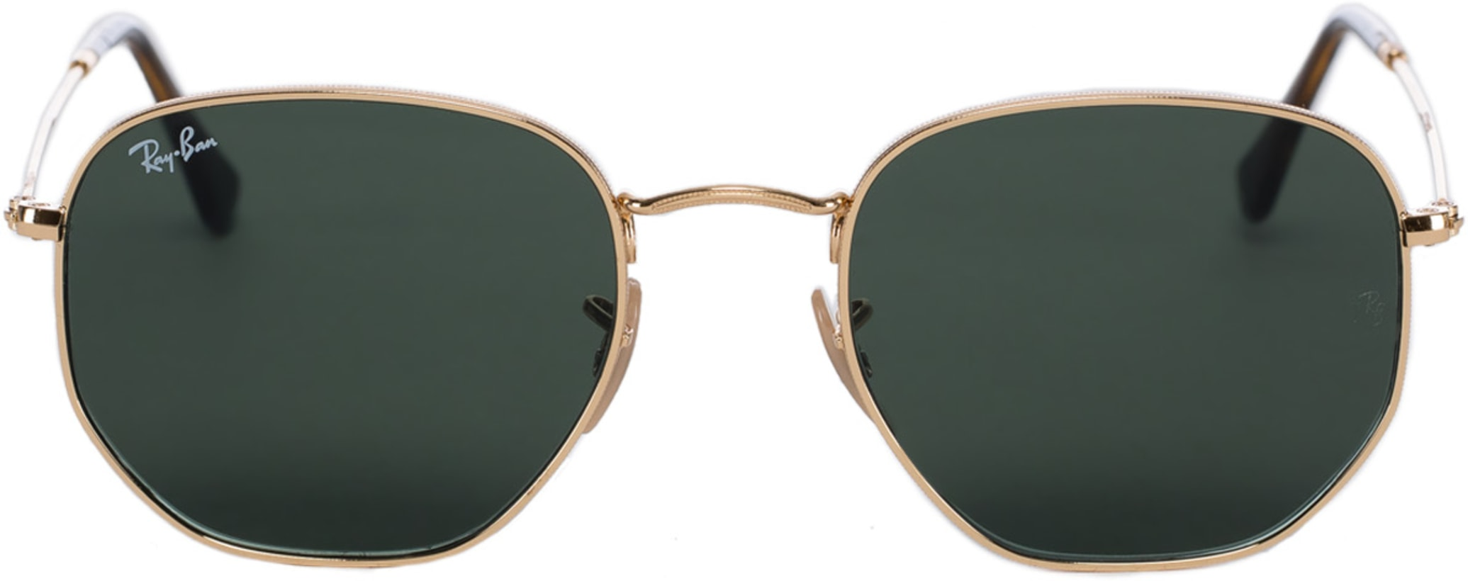e98afde378e Ray-Ban  Hexagonal Flat Lens Sunglasses - Gold Green Classic G-15 ...