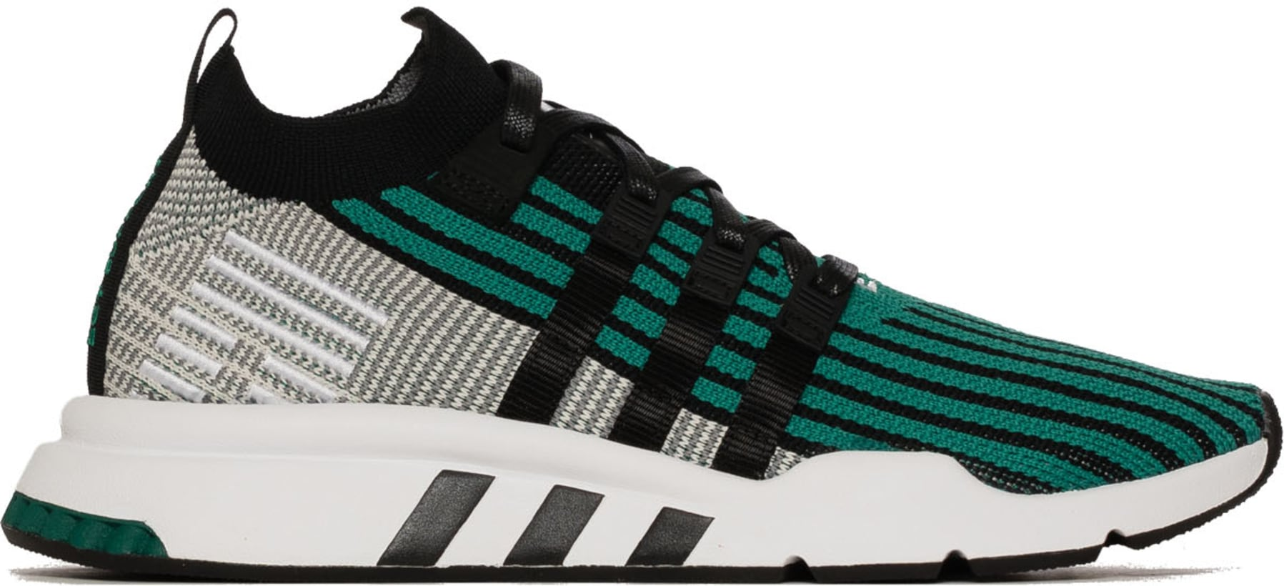 brand new d1d46 bcf25 adidas Originals. EQT Support Mid Adv Primeknit - Core BlackCore BlackSub  Green