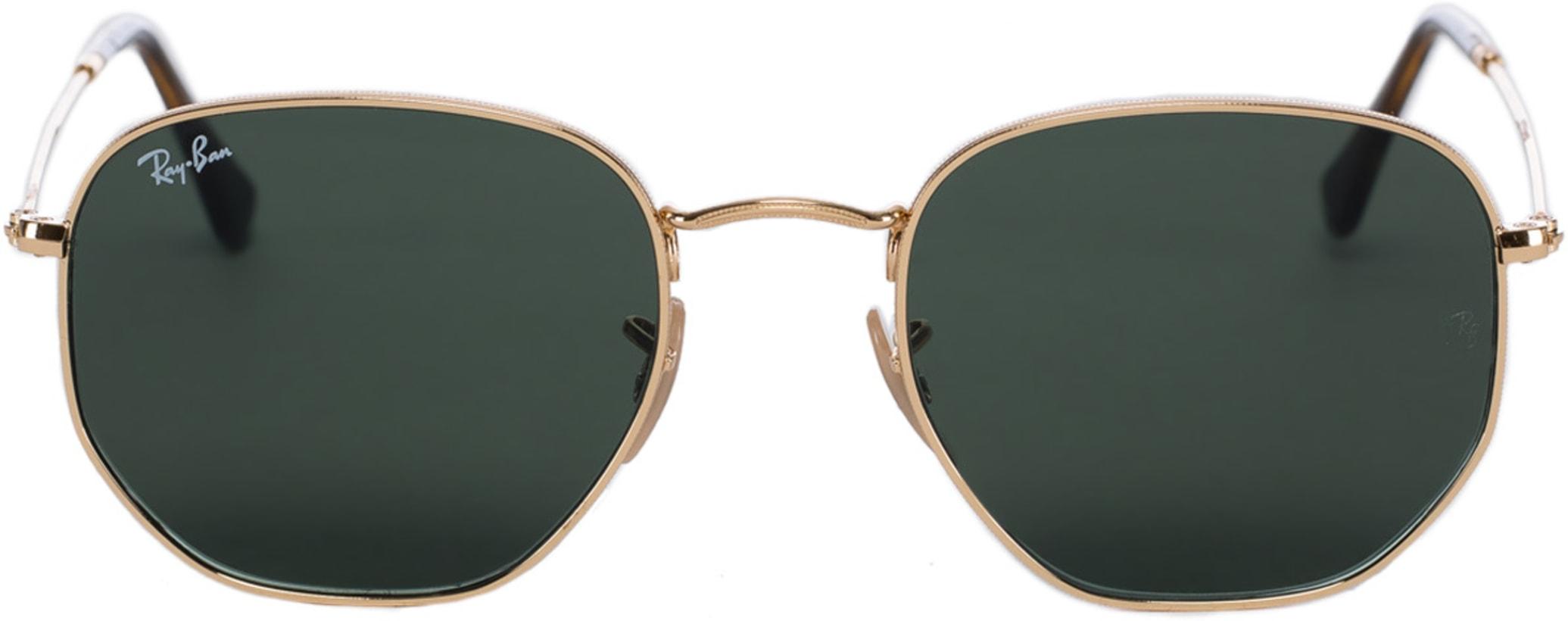 360a01db0e2bd Ray-Ban  Hexagonal Flat Lens Sunglasses - Gold Green Classic G-15 ...