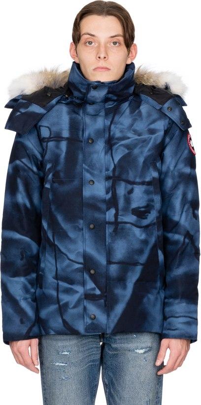 9f22ecfe3ae Canada Goose: Wyndham Parka - Abstract Blue Camo | influenceu
