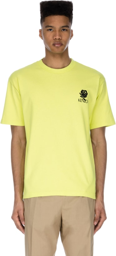 fa31c441ef99 Kenzo: 'Roses' T-Shirt - Lemon | influenceu