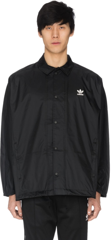 df6c9396d8 adidas Originals  Trefoil Coach Jacket - Black