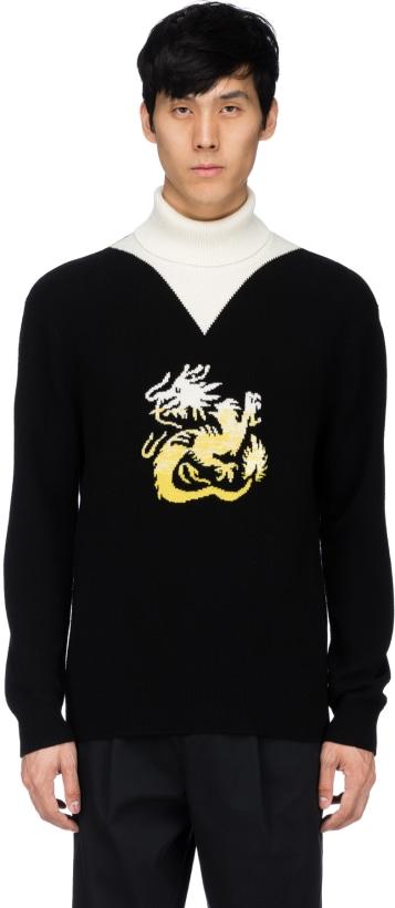 e46cacca Kenzo: Dragon Turtleneck Pullover - Black | influenceu